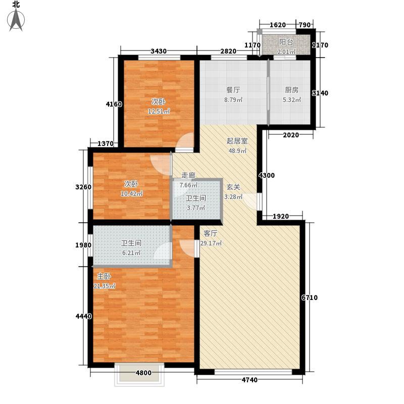 新街坊124.37㎡新街坊户型图(4/9张)户型10室