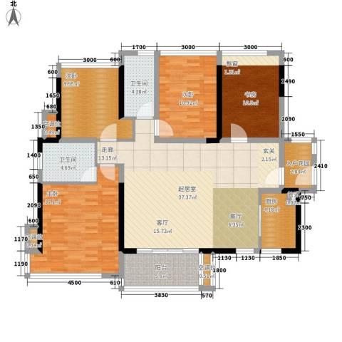 金地湖山大境4室0厅2卫1厨128.00㎡户型图