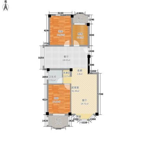 航天花园2室0厅1卫1厨113.00㎡户型图