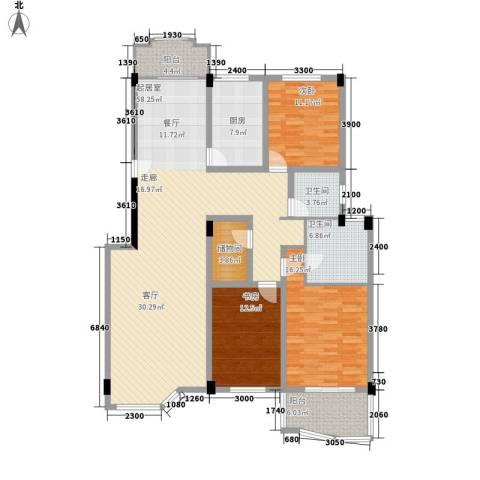 航天花园3室0厅2卫1厨157.00㎡户型图