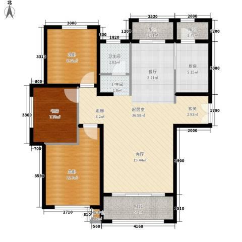 新公馆3室0厅1卫1厨121.00㎡户型图