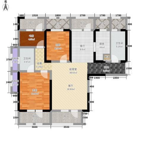 鹦鹉花园3室0厅2卫1厨154.00㎡户型图