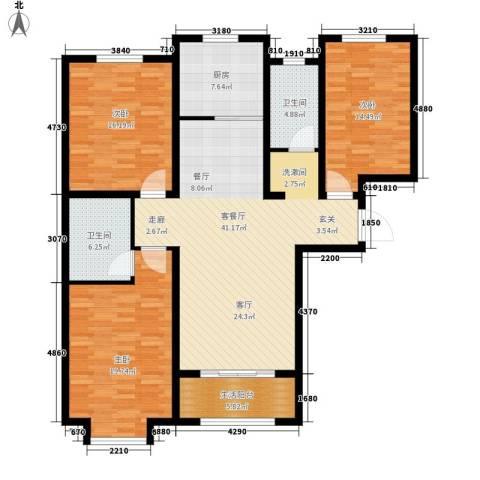 花香漫城3室1厅2卫1厨164.00㎡户型图