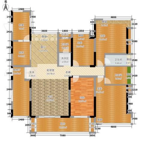 金地湖山大境4室0厅3卫1厨196.00㎡户型图