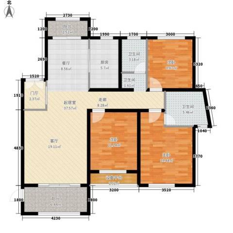 新公馆3室0厅2卫1厨135.00㎡户型图