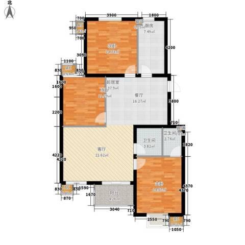 易水龙脉3室0厅2卫1厨110.97㎡户型图
