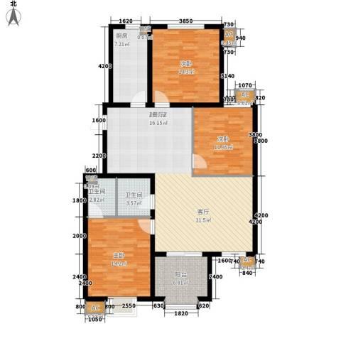 易水龙脉3室0厅2卫1厨113.66㎡户型图