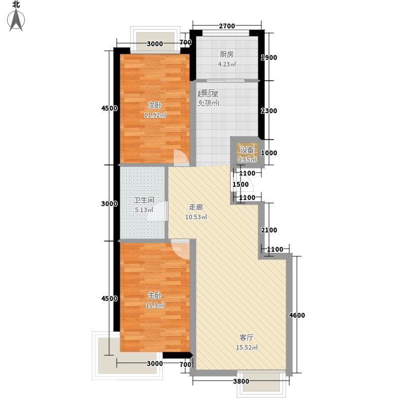 舒心园105.83㎡舒心园户型图(3/3张)户型2室2厅