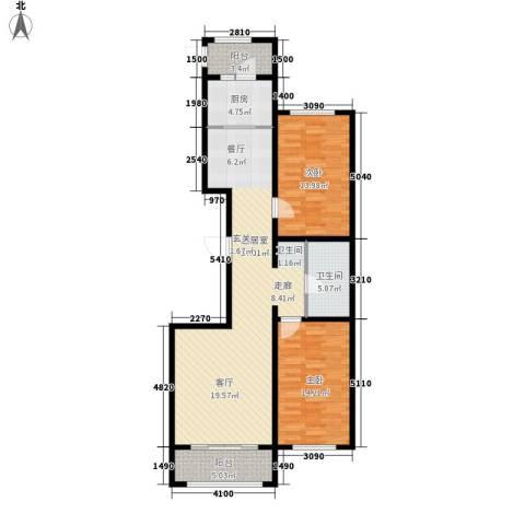 祺泰新居2室0厅1卫1厨116.00㎡户型图