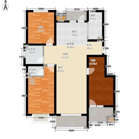 易水龙脉3室0厅2卫1厨122.66㎡户型图
