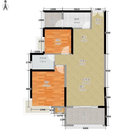 高升金典商务楼2室0厅1卫1厨103.00㎡户型图
