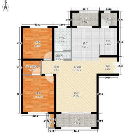 新公馆2室0厅1卫1厨109.00㎡户型图