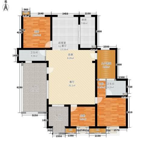 易水龙脉3室0厅2卫1厨157.64㎡户型图