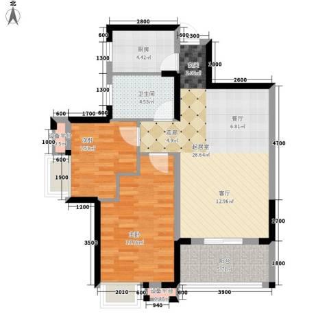 鹦鹉花园2室0厅1卫1厨91.00㎡户型图
