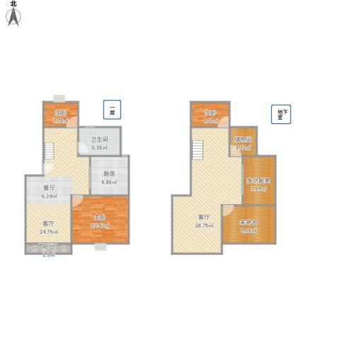 世纪非凡怡园3室2厅1卫1厨146.00㎡户型图