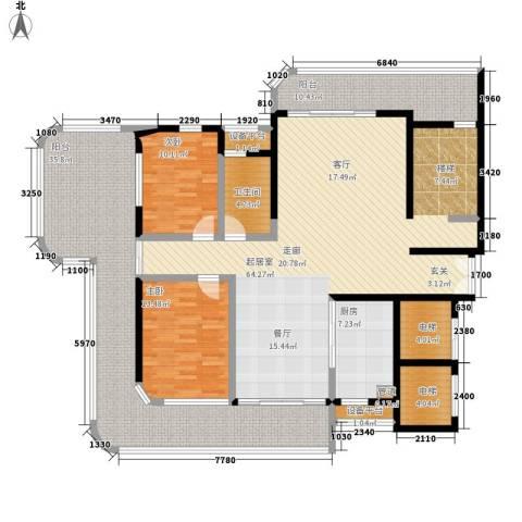 岳麓1号2室0厅1卫1厨306.00㎡户型图