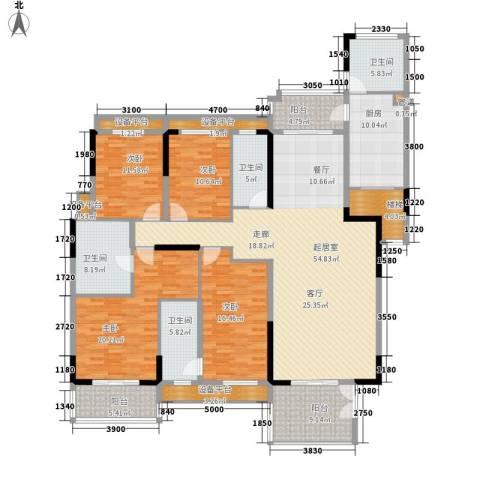 信基城4室0厅4卫1厨201.00㎡户型图