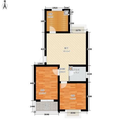 芳华怡园2室0厅1卫1厨70.00㎡户型图