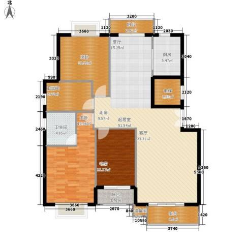 花香维也纳3室0厅2卫1厨145.00㎡户型图