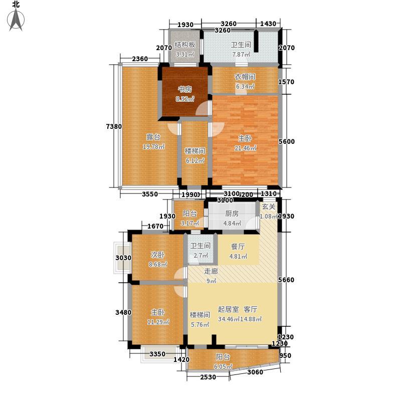 建信奥林匹克花园165.85㎡D8型4面积16585m户型