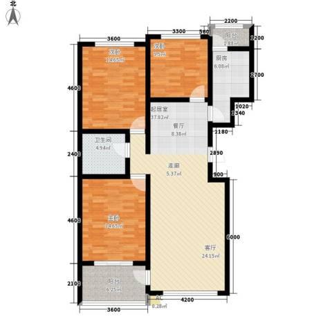 北方尚品3室0厅1卫1厨132.00㎡户型图