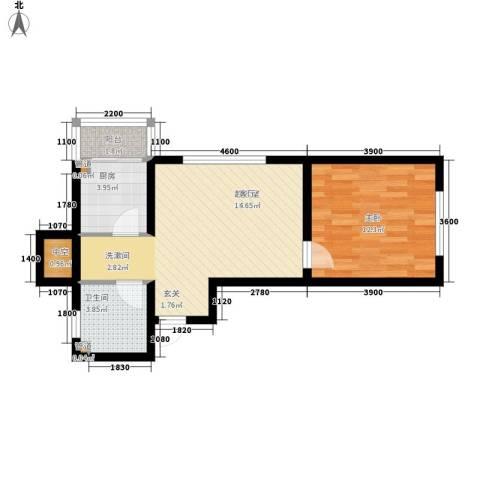 北方尚品1室0厅1卫1厨62.00㎡户型图