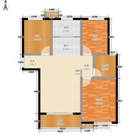 水墨丹青3室0厅1卫1厨138.00㎡户型图