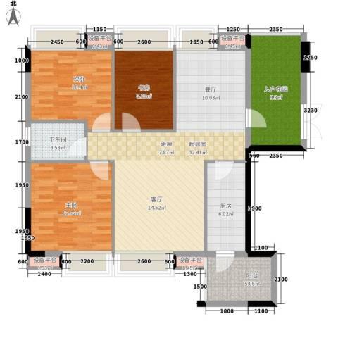 都市兰亭3室0厅1卫1厨127.00㎡户型图