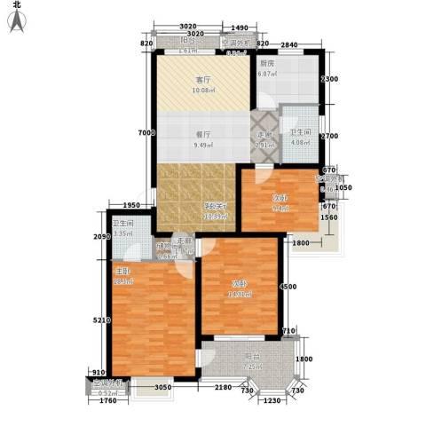 北苑之星3室1厅2卫1厨133.00㎡户型图