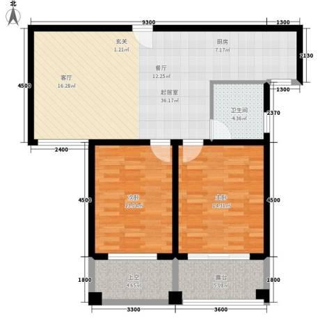 新悦润居2室0厅1卫0厨94.00㎡户型图