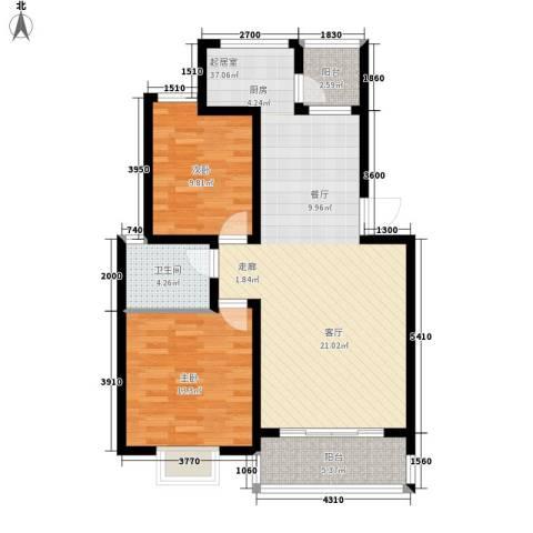 广天青城雅居2室0厅1卫0厨89.00㎡户型图