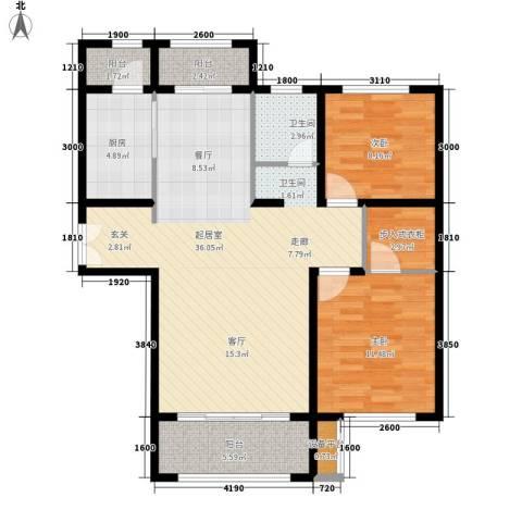新公馆2室0厅1卫1厨76.97㎡户型图
