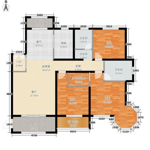 新公馆3室0厅2卫1厨162.00㎡户型图