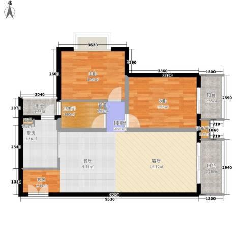 恒富苑小区2室0厅1卫1厨71.00㎡户型图