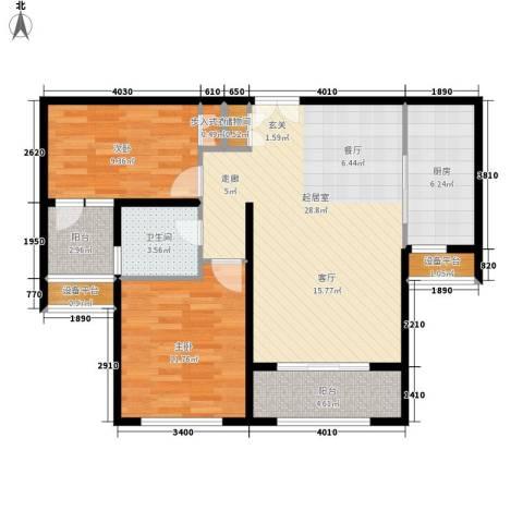 新公馆2室0厅1卫1厨96.00㎡户型图