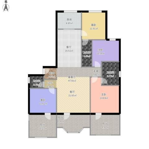 保利海德公园4室1厅3卫1厨198.00㎡户型图