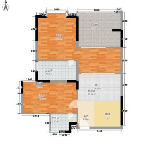 闽东国际城2室0厅2卫0厨188.00㎡户型图