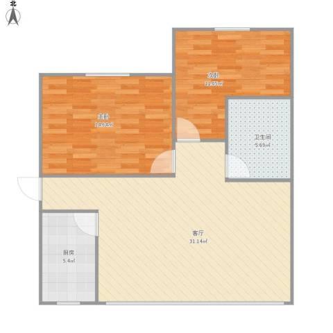 450945淞泽家园四区2室1厅1卫1厨90.00㎡户型图