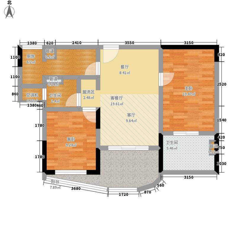 瑞都水郡78.00㎡【】B户型2室2厅