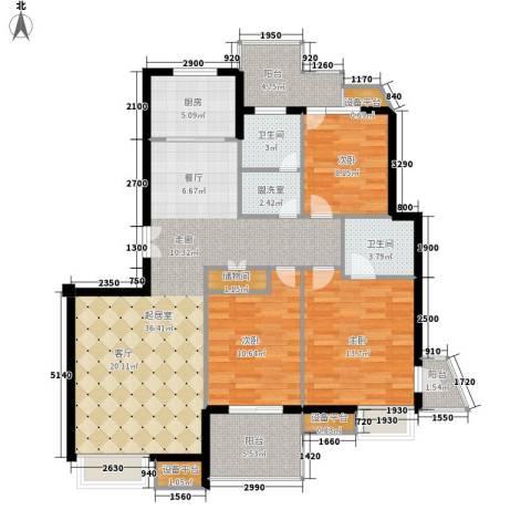 明园森林都市3室0厅2卫1厨140.00㎡户型图