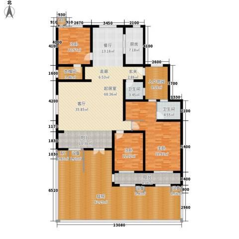 易水龙脉3室0厅2卫1厨247.44㎡户型图