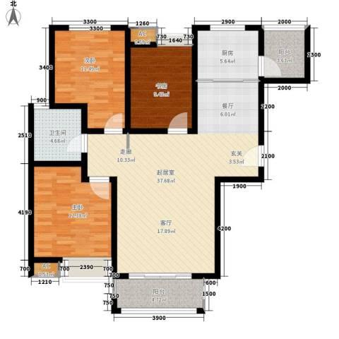 江佑铂庭3室0厅1卫1厨119.00㎡户型图