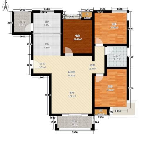 江佑铂庭3室0厅1卫1厨122.00㎡户型图