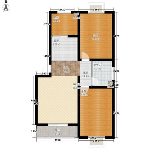 芳华怡园2室0厅1卫1厨90.00㎡户型图