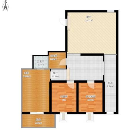 龙园小区2室2厅2卫1厨125.00㎡户型图