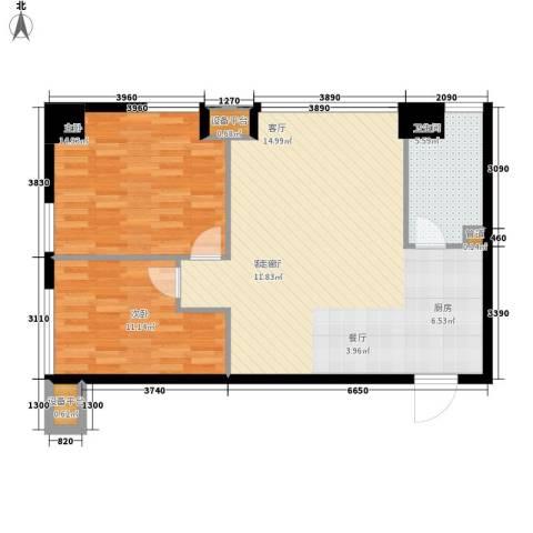 橙悦城2室1厅1卫0厨79.00㎡户型图