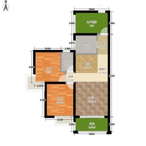 格澜郡2室1厅1卫1厨86.00㎡户型图