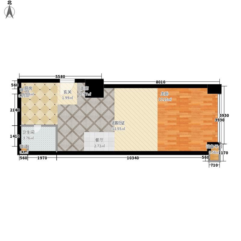 橙悦城64.16㎡公寓G面积6416m户型