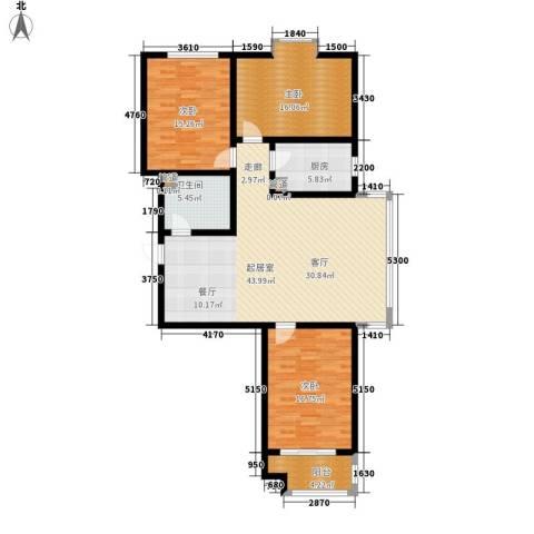 左岸阳光3室0厅1卫1厨123.00㎡户型图