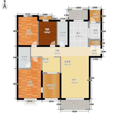 博仕名筑3室0厅2卫2厨178.00㎡户型图